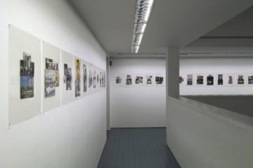 Luis Jacob, Album VIII, 2009, Image montage in plastic laminate, 76 elements, installation view, each 44.5 x 29 cm