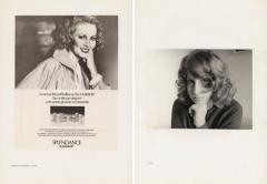 "Sanja Iveković, ""GRAZIA"", November 1974 [left]; 1972 [right] from the series DOUBLE LIFE, 1975"